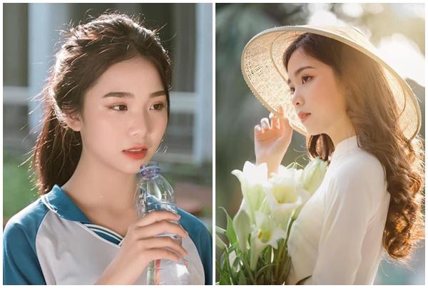 Đẹp trong veo tựa như sương mai, nữ sinh 2k3 Hà Nội khiến cộng đồng mạng