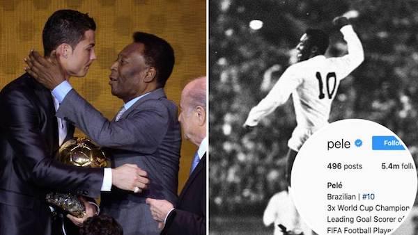 Huyền thoại bóng đá Pele lên tiếng sau tin đồn thay đổi thông tin cá nhân vì bị Ronaldo